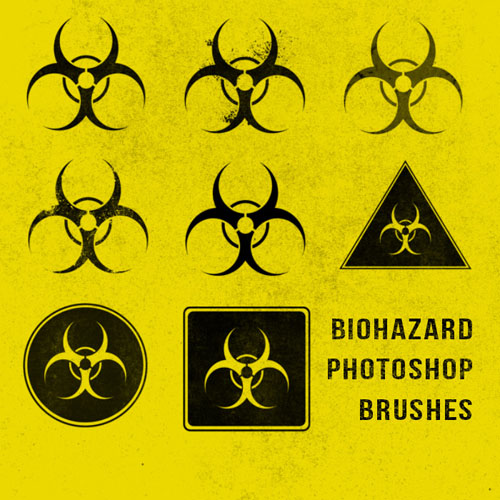 Brushes for Photoshop - Grunge Biohazard