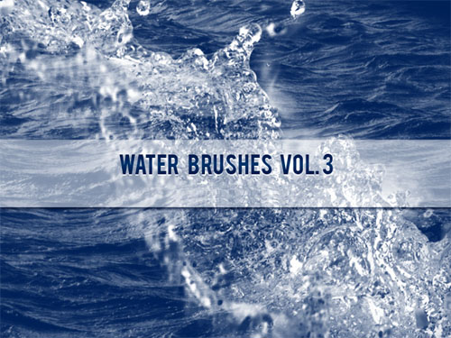 Water Brushes for Photoshop Vol. 3