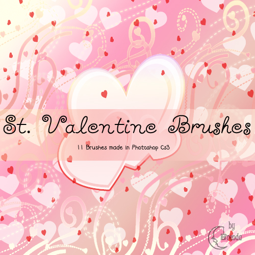 Кисти для Photoshop - St. Valentine Brushes by Brenda