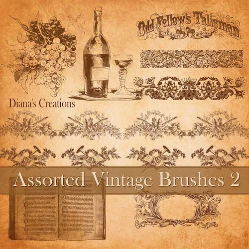 Assorted Vintage Brushes 2