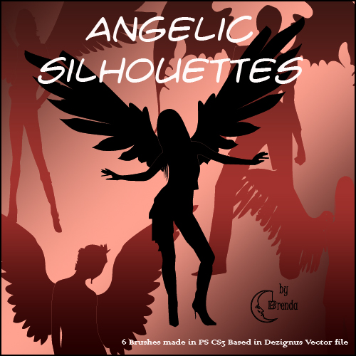 ����� ��� Photoshop - Angelic Silhouettes by Brenda