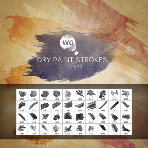 Dry Paint Strokes Brushes vol.1