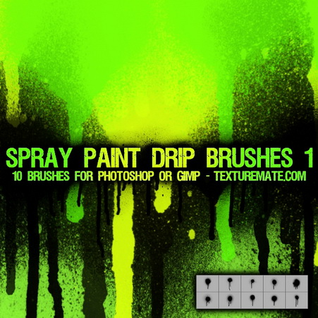 Spray Paint Drip 1 Brush Pack