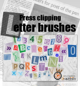 Press Clipping Letter Brushes. Кисти для Photoshop