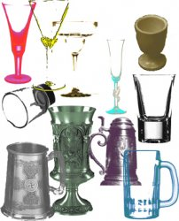 Goblets and Mugs Brushes. Кисти для Photoshop