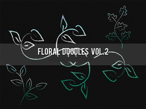 Brushes for Photoshop - Floral Doodles Pack 2