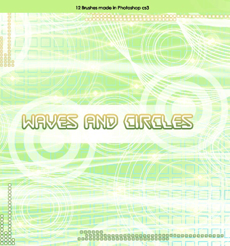 Кисти для Photoshop - Waves and Circles Brushes by Brenda