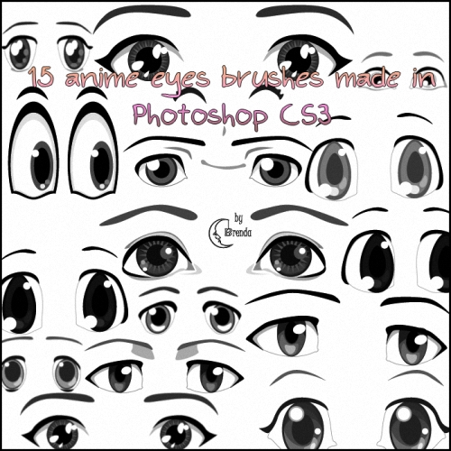Кисти для Photoshop - Anime Eyes Brushes by Brenda