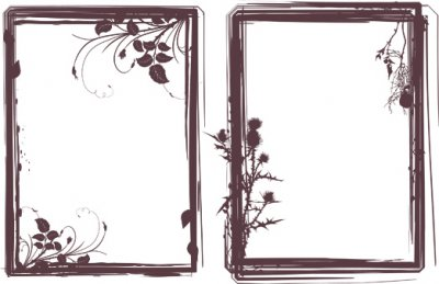 Grungy Frames Brushes. Кисти для Photoshop
