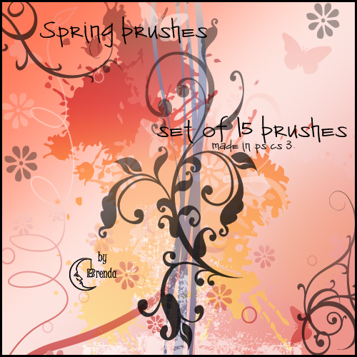 Кисти для Photoshop - Spring Brushes by Brenda