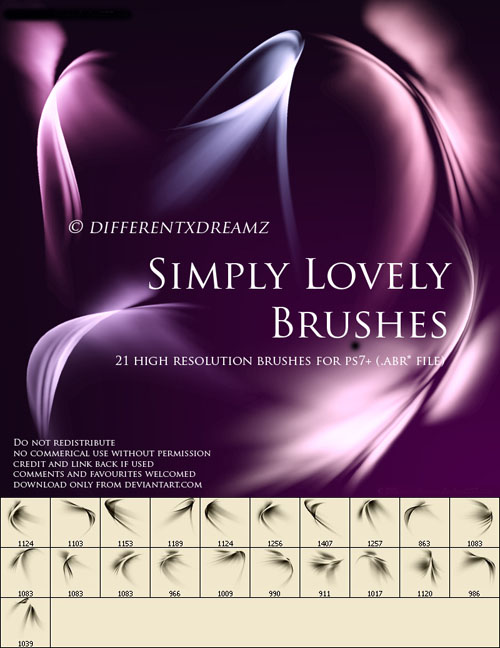 Brushes for Photoshop - Simply Lovely