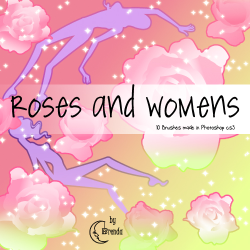 Кисти для Photoshop - Roses and Women Brushes by Brenda