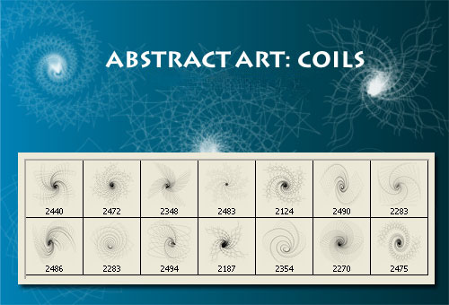 Abstract Art Photoshop Brushes - Coil