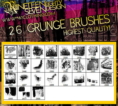 26 Grunge Brushes (HQ)