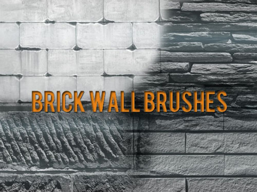 Brick Wall Brushes for Photoshop