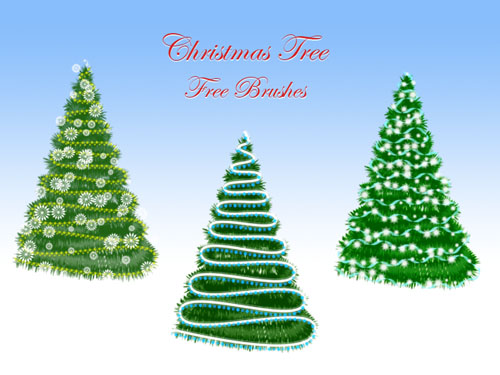 Christmas Tree Photoshop Brushes