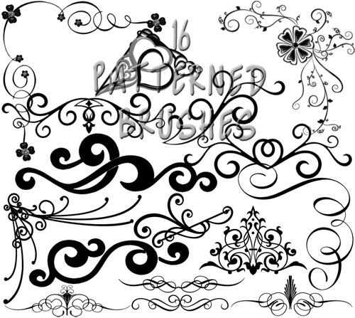 16 Patterned Brushes for Photoshop Part 5