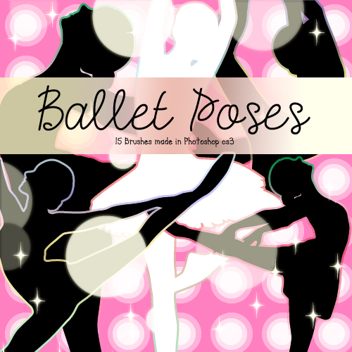 Кисти для Photoshop - Ballet Poses Brushes by Brenda