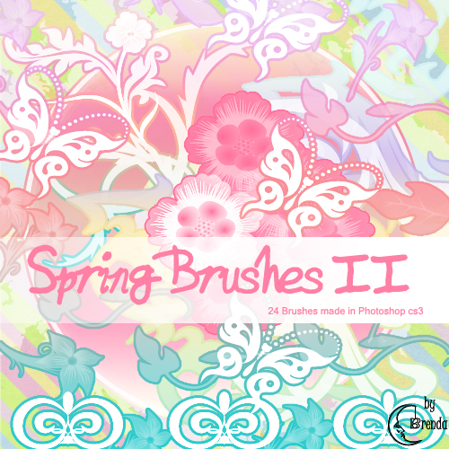 Кисти для Photoshop - Spring Brushes II by Brenda