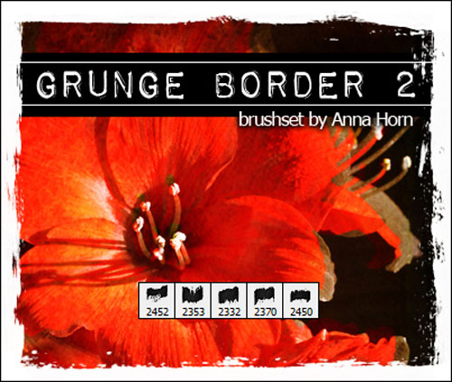 Brushes for Photoshop - Grunge Border Pack 2