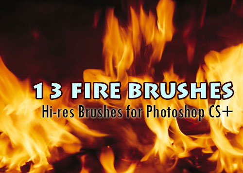 13 Fire Brushes Hi-Res