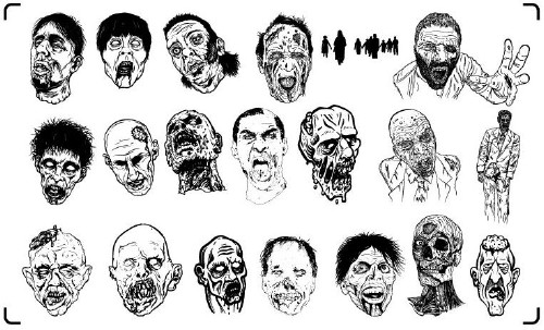 Zombie Brush Pack
