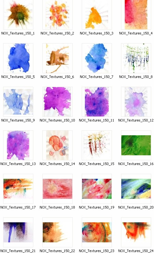36 Watercolor Textures - Текстуры акварели