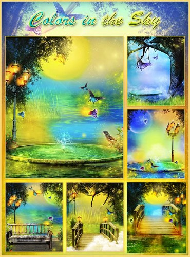 "Backgrounds ""Colors in the Sky"""