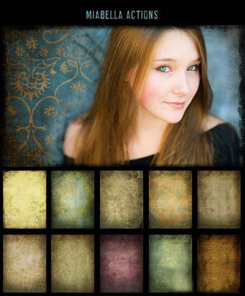 Actions and Texture for Photoshop by MiaBella