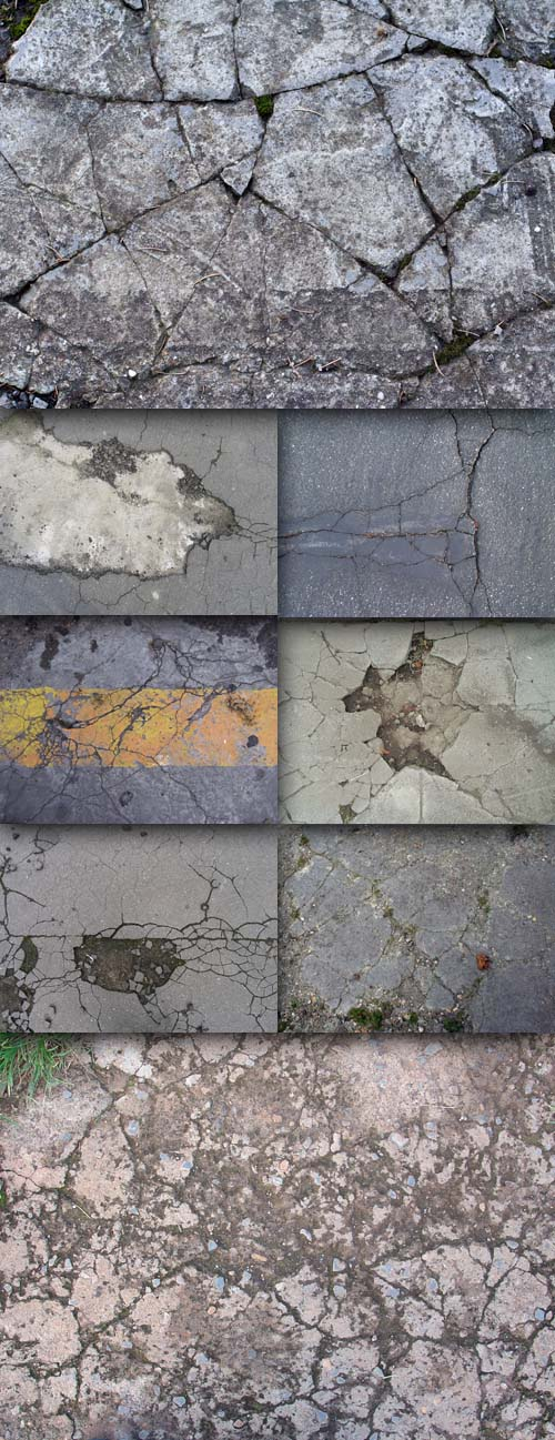Set of 20 asphalt textures