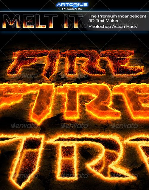 GraphicRiver - Melt It - The Premium Incandescent 3D Text Maker 162005