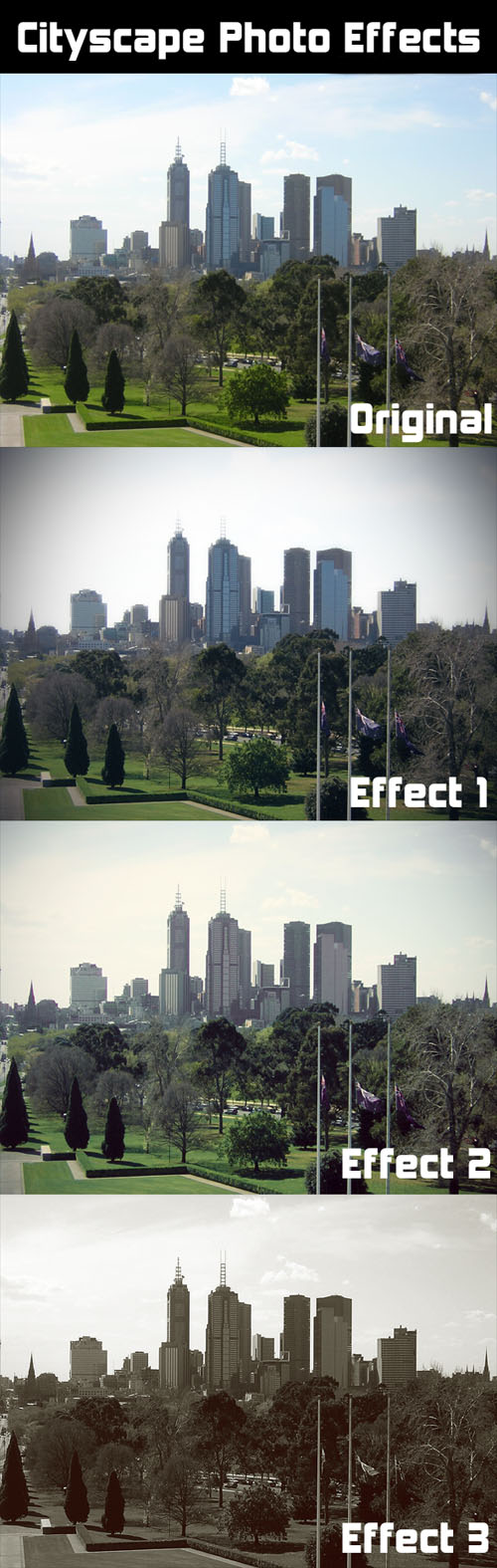 Actions for Photoshop - Cityscape Photo FX