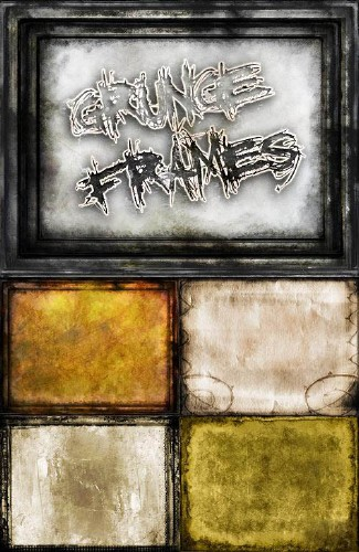 Framework in the style of grunge