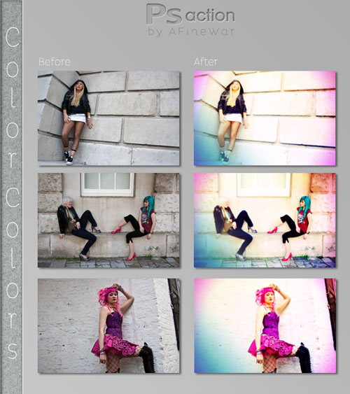 Colorful Photoshop Actions