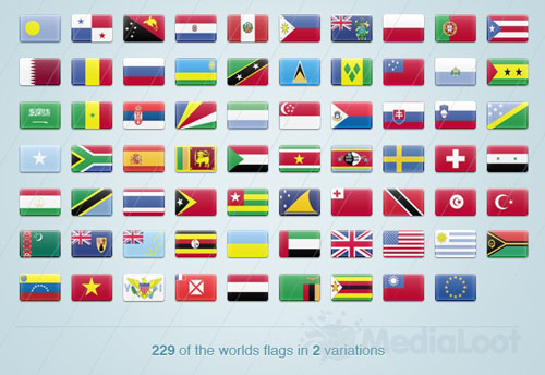Medialoot - 220+ World Flag Icons