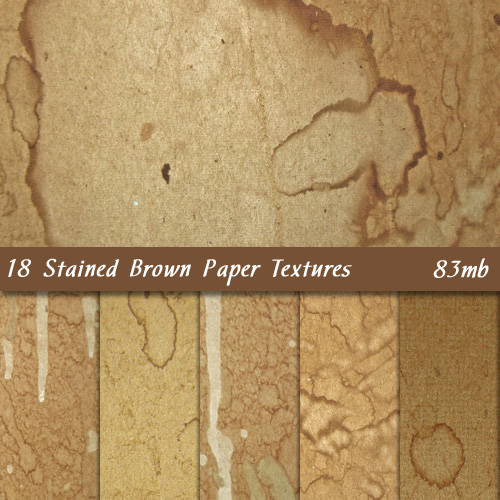 18 Stained Brown Paper Textures