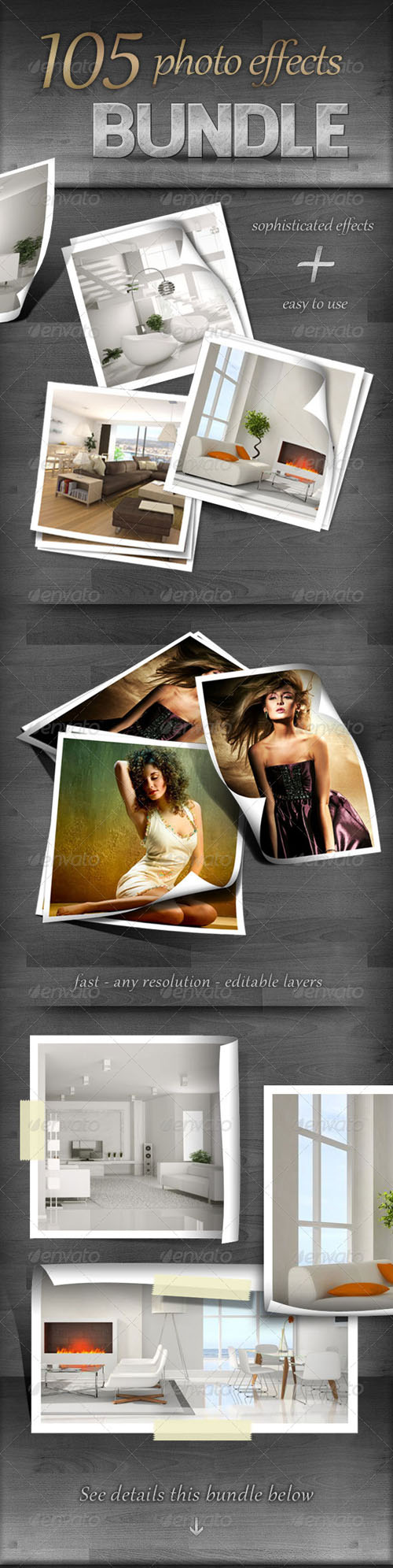 GraphicRiver - 105 Photo Effects - Bundle 723542