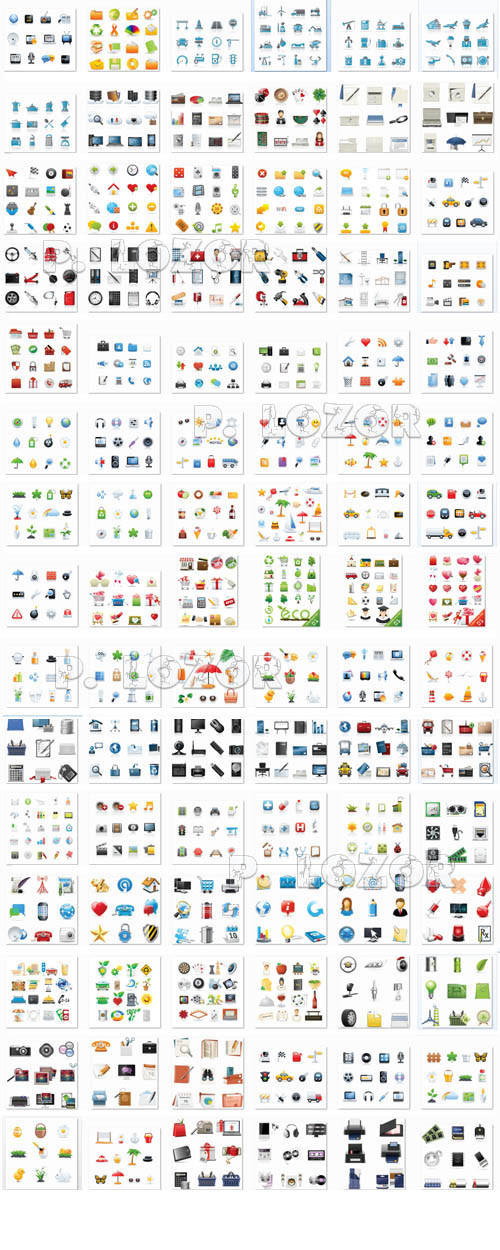 Mega collection icons set 2