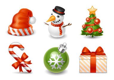 Christmas set icons