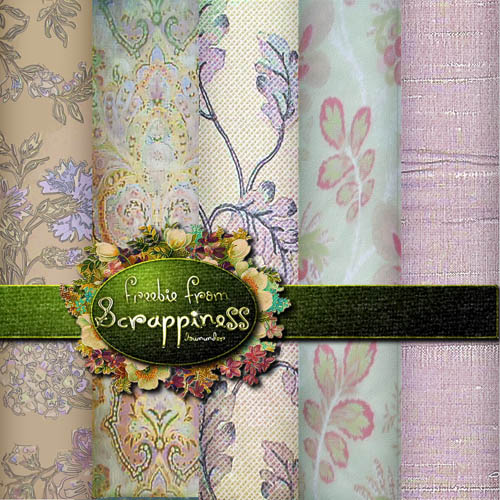 Textures - Vintage Flowers Fabric