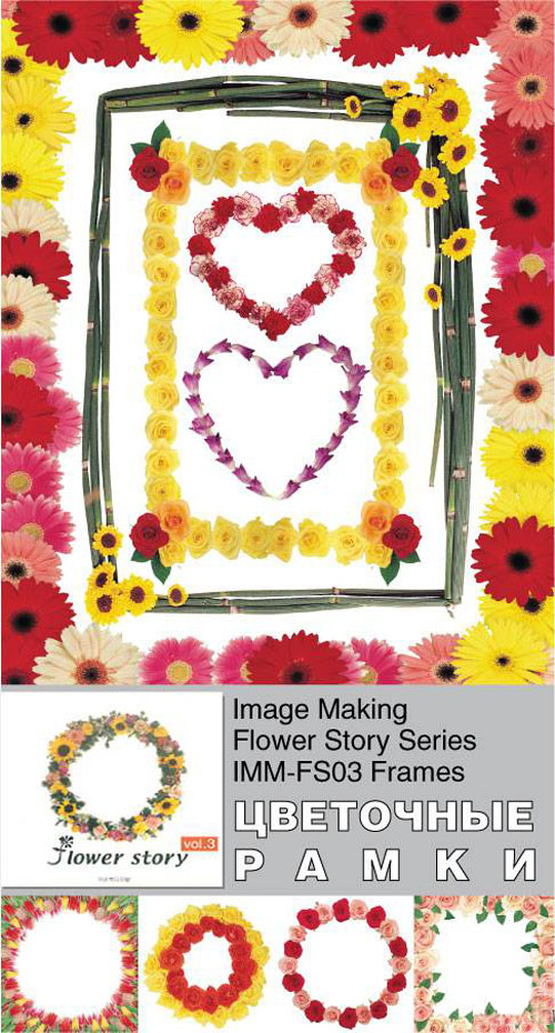 Image Making - Flower Story Series - IMM-FS03 Frames