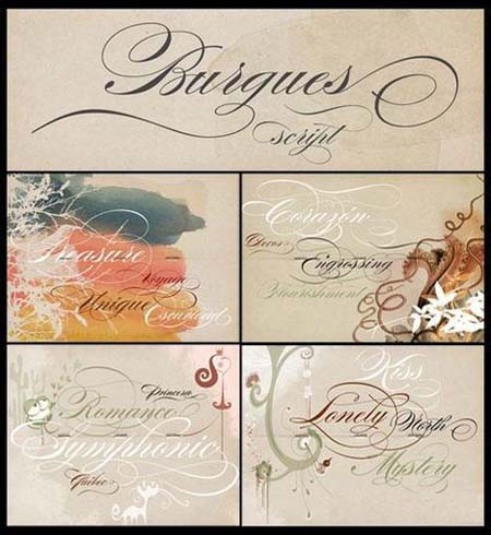 Amazing Burgues Fonts Collection
