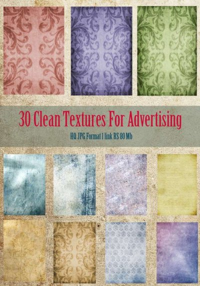 30 Clean Textures for Advertising