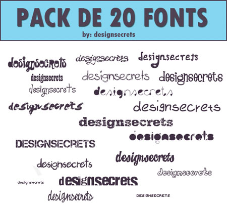 Pack Of 20 Fonts