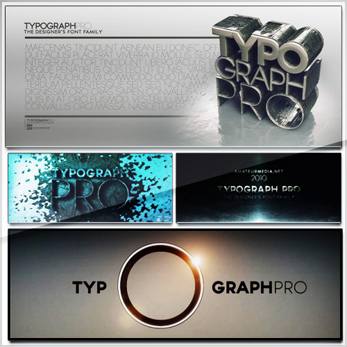 7 TYPOGRAPH PRO FONTS