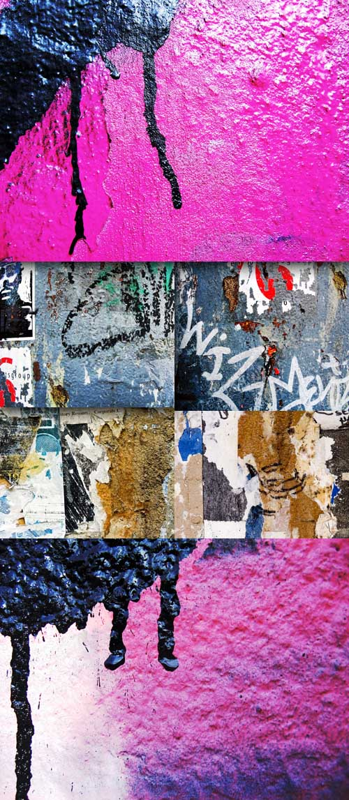 Painted wall textures set 2