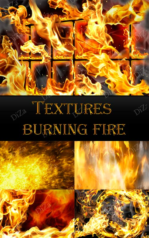Textures burning fire