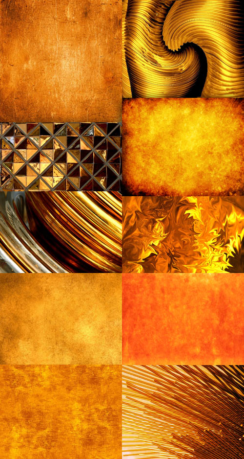 A set of gold textures # 1
