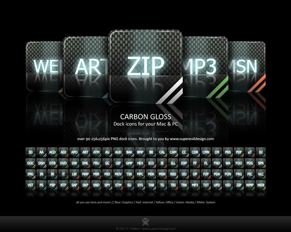 Carbon Gloss Icons - Иконки