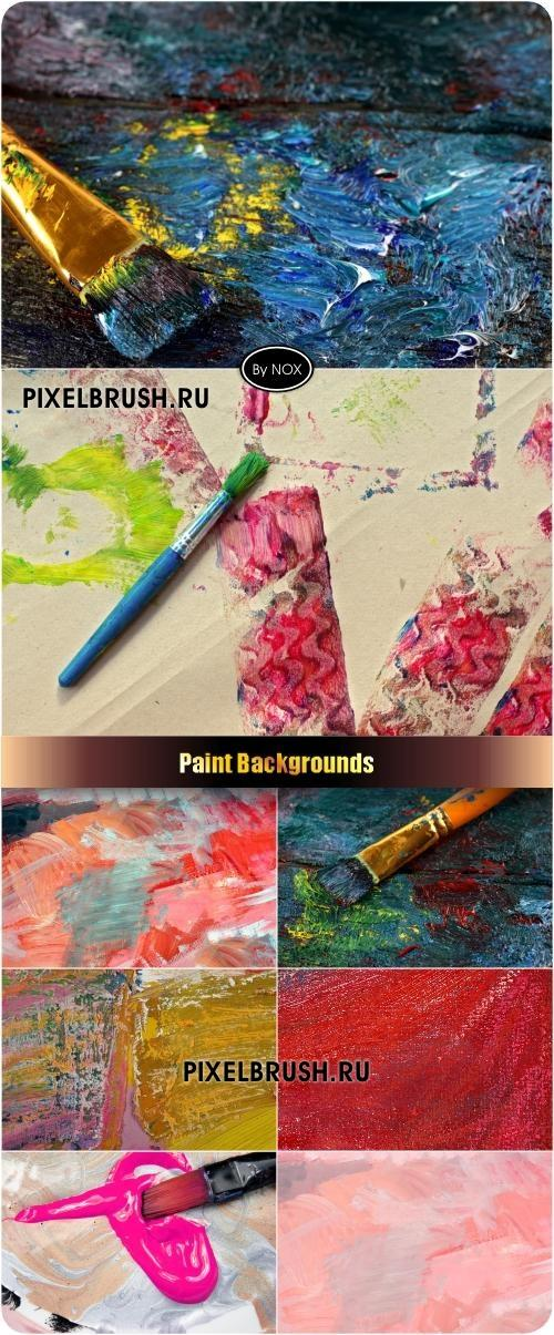 Paint Backgrounds - Краски, фон
